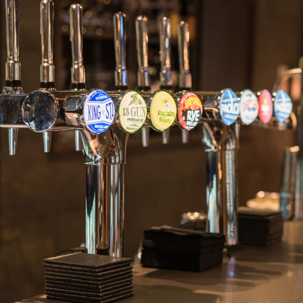 Draught beers and ciders at DINE